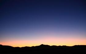 Картинка небо, свет, пейзаж, закат, природа, тень, light