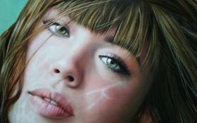 Обои Девушка, блики, портрет