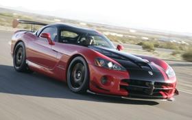 Картинка Dodge, viper, красно-чёрный