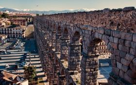Обои bricks, Rome, stones, aqueduct