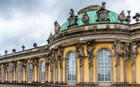 Картинка Германия, архитектура, картинная галерея, Потсдам, Сан-Суси