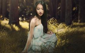 Картинка девушка, поза, азиатка