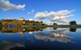 Картинка река, храм, Ярославль, Успенский собор