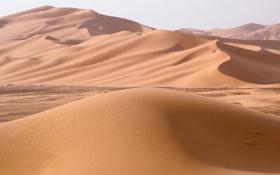 Обои песок, холмы, пустыня, дюны, африка, ливия