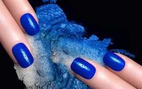 Обои макро, фон, пальцы, ногти, капли воды, маникюр