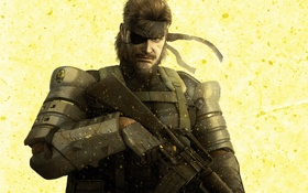 Обои wallpaper, fox, Metal Gear Solid, konami, Naked Snake, Peace Walker