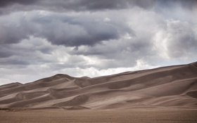 Картинка природа, Great Sand Dunes National Park, пустыня, дюны