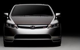 Обои cars, auto, Honda, серый фон