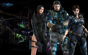 Картинка пистолет, Resident Evil, team, Resident Evil: Revelations, Biohazard, Jill Valentine, Chris Redfield