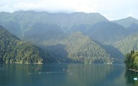 Обои вода, горы, озеро