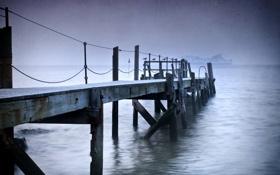 Картинка море, мост, корабль