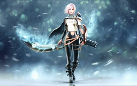Обои меч, Final Fantasy, Square Enix, lightning, Lightning Returns: Final Fantasy XIII
