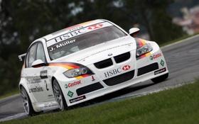 Картинка обои, BMW, WTCC, гонки, 3series, машина
