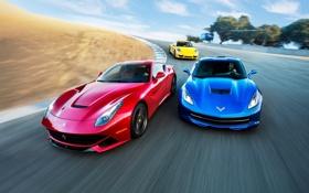 Обои 911, Porsche, Corvette, Chevrolet, Феррари, Шевроле, Ferrari