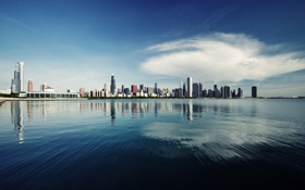 Картинка USA, здания, мичиган, чикаго, высотки, Chicago, illinois