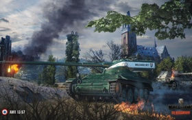 Картинка tank, танк, танки, AMX 13 57, World of Tanks, Франция, Wargaming.Net