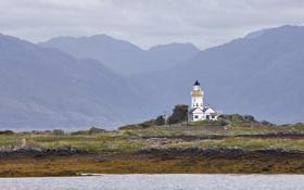 Обои остров, шотландия, маяк