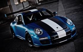 Картинка Porsche, blue, GT3