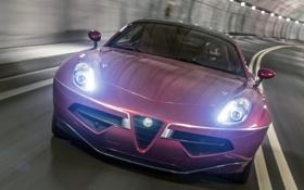 Обои свет, огни, фары, Alfa Romeo, вид спереди, Touring, Disco Volante