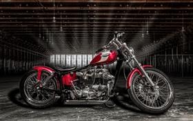 Картинка Triumph, байк, ангар, мотоцикл, стиль