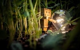 Картинка лампочка, коробка, amazon