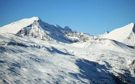 Картинка снег, горы, вершины, гряда