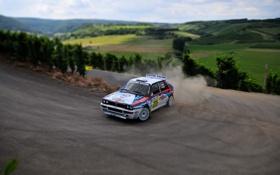 Обои Дорога, Поворот, Tilt-Shift, WRC, Lancia, Rally, Delta