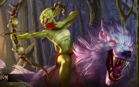 Обои волк, hon, fan art, Heroes of Newerth, skin, S2Games, sinew