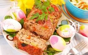 Обои яйца, пасха, рулет, egg, meat, мясной