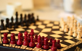Обои фон, шахматы, фигуры