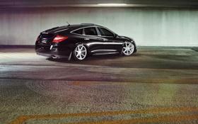 Обои тюнинг, черная, Хонда, парковка, Honda, black, vossen