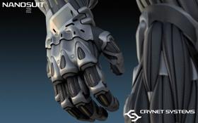 Обои нанокостюм, перчатка, nanosuit, crysis 2