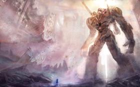 Картинка Mech, робот, катастрофа, разрушение