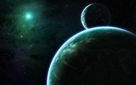 Картинка космос, звезды, планеты, space, спутники, stars, planets
