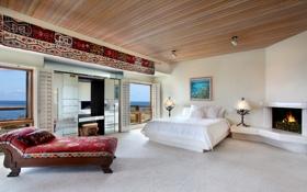 Обои hotel, room, bed