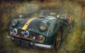 Картинка машина, стиль, фон, Triumph TR 4