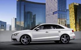 Обои Audi, Ауди, Город, Белый, Машина, седан, Sedan