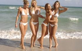 Обои девушки, alessandra ambrosio, victoria's secret, даутцен крёз, купальник, миранда керр, DOUTZEN KROES