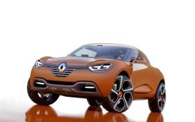 Обои авто, белый фон, Renault