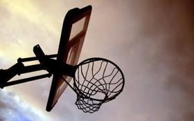 Картинка небо, спорт, доска, баскетбол