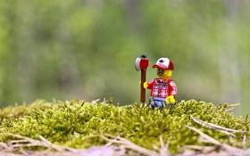 Обои игрушки, lego, фигурки, лего, funny, lumberjack