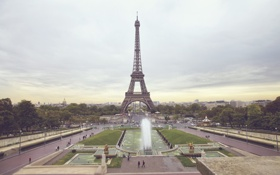 Обои город, люди, париж, эйфелева башня, paris, франция