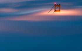 Обои мост, туман, опора, Сан-Франциско, Золотые Ворота, США