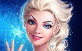 Обои девушка, лицо, Disney, Elsa, Snow Queen
