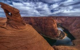 Обои небо, облака, скалы, каньон, США