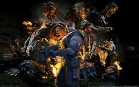Картинка монстры, Gears of War, Marcus Fenix, Lambent
