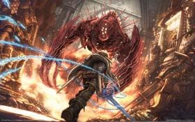 Обои монстр, меч, цепь, The Last Story