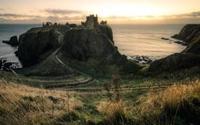 Картинка sea, scotland, Dunnottar Castle
