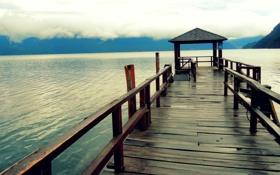 Обои пейзаж, горизонт, фото, водоем, обои, пирс, природа