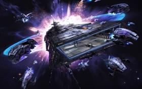 Картинка космос, фантастика, вселенная, игра, корабли, арт, симулятор